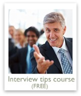 Sign up TODAY for our free job interview tips course