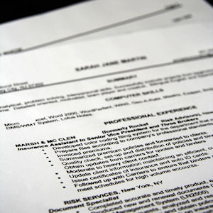 Example of one of the resume formats