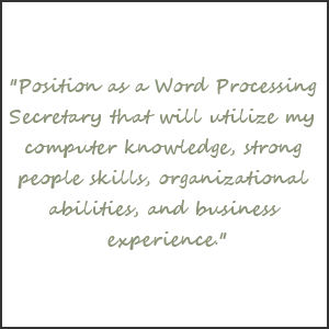 an example of a resume objective