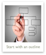 Start with a resume outline worksheet