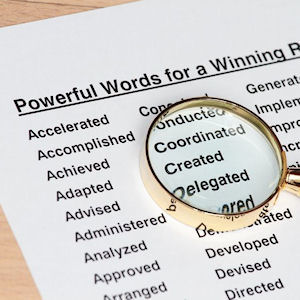 Use Powerful Resume Wording To Write A Great Resume