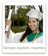 Click to see sample student resumes