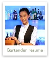 Take a look at this sample bartender resume