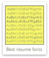 Which resume fonts work best on a resume?
